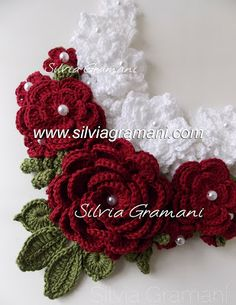 colar de crochê, colar mistral flower, colar afrodite, colar, maxi colar,