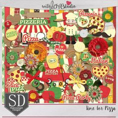 Time For Pizza digital scrapbooking kit from Shmooangel Designs. It's time for pizza! Whether it's homemade, delivery or enjoyed at your favorite restaurant, who doesn't love pizza? This kit is full of great elements to scrap all your pizza pages and projects.