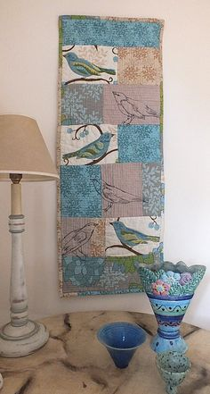 Quilted and embroidered wall hanging. Copyright Stephanie Boon, 2012.