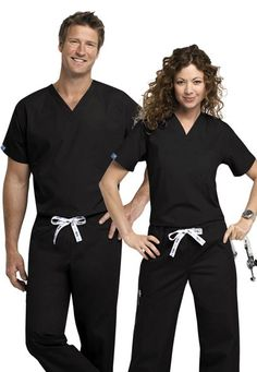 Click Image Above To Purchase: Scrubs & Beyond Unisex One Pocket Scrub Top.