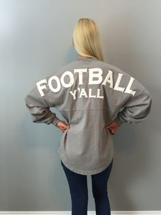 Football Y'all Spirit Jersey in Gray – Southern Grace Outfitters