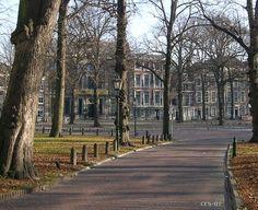 Gezicht op het Paleis - Lange Voorhout.