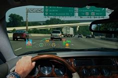 Microvision laser head-up displays projects visual data on windshields