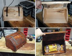 rustic bread box made with new materials