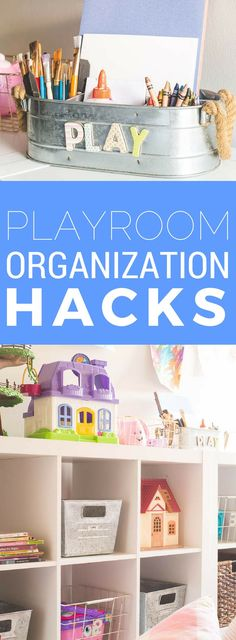 How to create toy organizers - playroom hacks to make the most of your kids' play space.