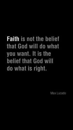 Faith - Max Lucado | Took me a long time to learn this lesson. Easier said than done.