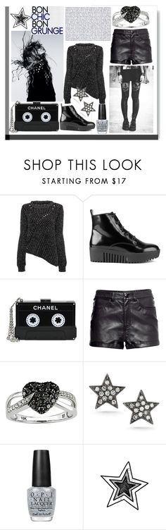 """""""Grunge"""" by olivochka ❤ liked on Polyvore featuring Magdalena, Opening Ceremony, Chanel, Ice, Dana Rebecca Designs and OPI"""