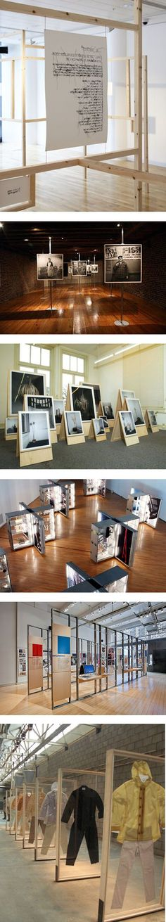 Have a gallery exhibition displays. Like the wood floors with brick and sepia tones--good aesthetic for the bakery Visual Display, Display Design, Booth Design, Store Design, Display Ideas, Banner Design, Exhibition Display, Exhibition Space, Exhibition Ideas