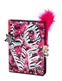 Zebra Dye Effect Love Journal   Girls Backpacks & School Supplies Accessories   Shop Justice
