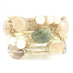 Love this stack! Green garnet is becoming one of my faves! #greengarnet #druzy #gold #thursday #girlboss