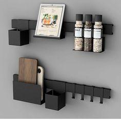 """@juncher_design har allerde blitt en favoritt hos oss. Sett sammen ditt eget """"kitchen rack"""". En genial løsning hvor du kan velge akkurat det som passer på ditt kjøkken. Velg mellom 3 ulike lengder på listene, og de delene du ønsker 👉 www.lunehjem.no / Pic by @juncher_design / FRI FRAKT I MARS 🙌"""