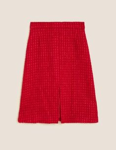 Wool Tweed Midi A-Line Skirt | M&S Collection | M&S