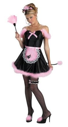 Maid Purr-fect Adult Costume This sexy uniform is your classic french maid costume with a sassy feline twist. This Maid Purr-fect Adult Costume includes a blac Girl Costumes, Adult Costumes, Costumes For Women, Funny Costumes, Halloween Costumes, Maid Outfit, Maid Dress, Maid Lingerie, French Maid Costume