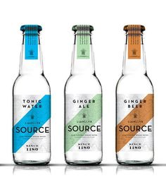 Bottle Tonic Water Label and Packaging Design