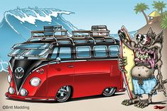 Surf Rat and his cool VW Bus © Britt Madding 2012 All images copyrighted and not to be used without permission