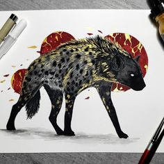 Another one which was suggested quite many times :) Shop has also been updated now! Unsold originals and this weeks prints are now available! Link in bio! Kunst Inspo, Art Inspo, Art And Illustration, Creature Drawings, Animal Drawings, Fantasy Kunst, Fantasy Art, Pretty Art, Cute Art