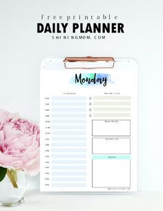 Free Printable Fillable Today Is The Day PlannerDiary By Erin
