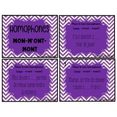 cartes à tâche - homophones mon-m'ont-mont Communication Orale, Classroom Procedures, French Grammar, Cycle 3, Teacher Tools, Teaching Writing, Spelling, Activities, Math