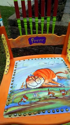 This is a storyofone of four chairs that I did for a customer, Linda, who has become an interestingnew friend in the process. ...