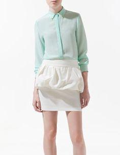 Zara Silk Shirt with Applique on Collar