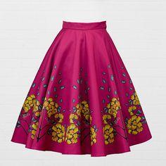 Robin Pin Up Nouveau Circular Skirt New Look Skirts, Robin Bird, Blue Leaves, Fabric Design, Pin Up, Feminine, Trending Outfits, Diva, Beauty