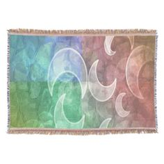 Pastel Stones and Crescent Moons Blanket