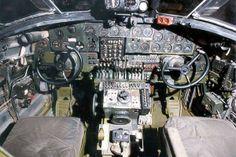 Cockpit of the B-24 Liberator. [U.S. Air Force Photo]