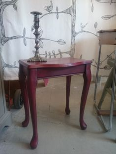 Side table - Emperor's Silk with a black Chalkpaint™ wax finish.