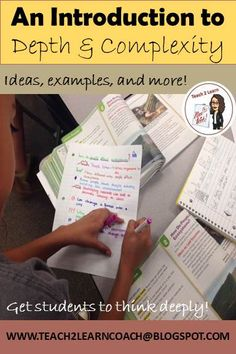 Explore some fun ways to get students thinking at a higher level with the use of Depth and Complexity!