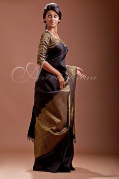 Kancheepuram silk saree with zari