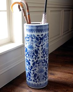 One of my favorite items - blue & white umbrella stand