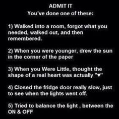 Lol love this! Number 4 and 5 completely describe my childhood though hahahahaah ;)