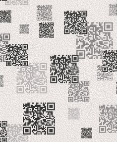 Q R Code inspired wallpaper from the Kids and Teens 2016 range, 864502 by Rasch. Available through Guthrie Bowron stores. Teen 2016, Teen Wallpaper, Roller Blinds, Designer Wallpaper, Pattern Wallpaper, Pattern Design, Coding, Kids, Bedroom Ideas