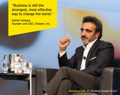 Hamdi Ulukaya, Founder and CEO, Chobani, Inc. and EY World Entrepreneur Of The Year™ 2013 Award winner, at the EY Strategic Growth Forum®, November 13-17, 2013 Palm Springs, California. #businessquotes #business