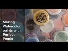 """Can you make Watercolor Paints with Perfect Pearls? The short answer is """"yes""""- but I have some tips to get great custom colors and deep tones!"""