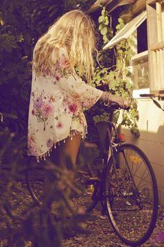 blouse-kimono-vest-floral-flowers-pink-satin-dress-boho-hippie
