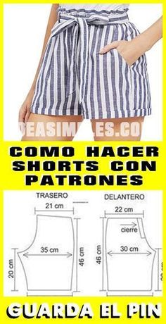 Fantastic Pic easy sewing pants Style Exceptional 30 sewing tips projects are available on our site. Read more and you wont be sorry you Dress Sewing Patterns, Sewing Patterns Free, Clothing Patterns, Skirt Patterns, Coat Patterns, Blouse Patterns, Sewing Shorts, Sewing Blouses, Fashion Sewing