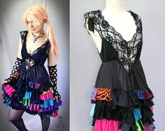 custom zombie rocker dress - Your Color Choice - smarmyclothes halloween punk on Etsy, $125.00