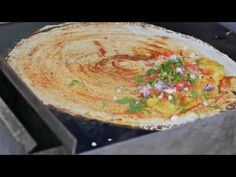 Indian Street Food - Indian Masala Dosa and Young Coconut Water
