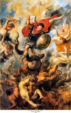 St. Michael and The Fall of the Rebel Angels by Peter Paul Rubens ...