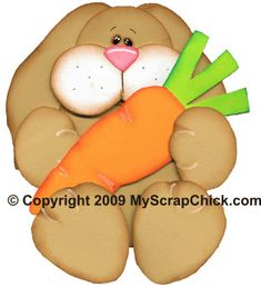 Bunny & Carrot, Easter & Spring Crafts