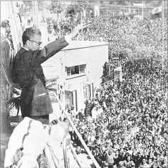 Shah Mohammad Reza Pahlavi speaks to people about principles of White Revolution. 1963