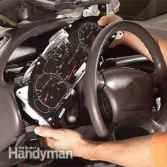 How to Replace Dashboard Lights: Replace dashboard lights by removing the trim panel and instrument cluster. It sounds intimidating, but it's simpler than you might think with an online factory manual. http://www.familyhandyman.com/automotive/how-to-replace-dashboard-lights/view-all