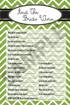 Printable Bridal / Wedding Shower Games by OKlovelies4u on Etsy, $4.00