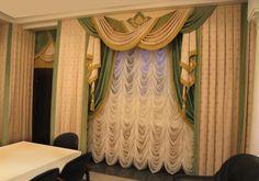 Французские шторы — Пошив французских штор на заказ. Шторы для кухни, гостиной, спальни (фото) — Салон Атмосфера Curtain Styles, Curtain Designs, Home Curtains, Curtains With Blinds, Window Coverings, Window Treatments, Beautiful Curtains, Art N Craft, Window Styles