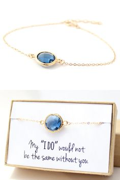 Navy+Blue+/+Gold+Round+Bracelet++Blue+Bridesmaid+by+ForTheMaids,+$22.00