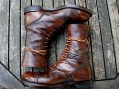 My vintaged Corcoran Jump boots freshly cleaned and shined