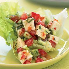 ... mint, fresh basil, firm tofu, lettuce leaves... 6 net grams carbs