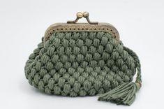 Khaki Crochet Coin Purse, Crochet Wallet, Handmade Crochet Wallet, Cute Purse, Purse With Frame, Coin Purse, Kiss Lock Coin Purse Crochet Wallet, Crochet Coin Purse, Knitted Beret, Knitted Gloves, French Beret Hat, Wool Berets, Chunky Wool, Coin Purse Wallet, Cute Purses