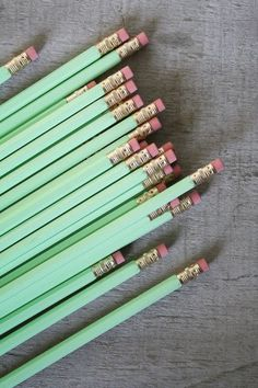 if you want to be cool in school. mint green pencils are the answer.